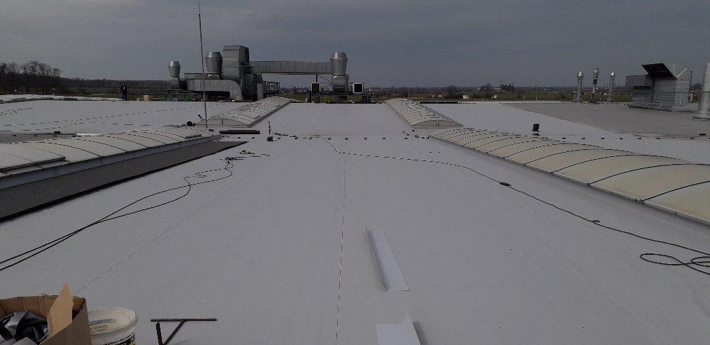 Rekonstrukce střechy výrobní haly